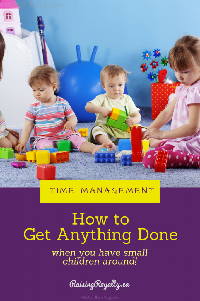 A bunch of toddlers playing together can be messy and exhausting. How can you get things done when you have small children?