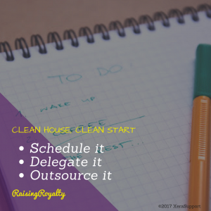 Routines vs Schedules -- scheduling time to clean house and keeping a routine can make for less frustrating chores.