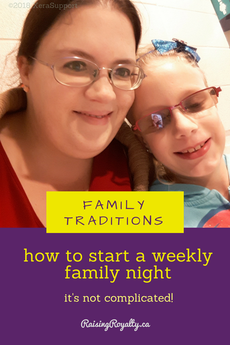 It can be easy to forget about spending time WITH your family when you spend all your time caring FOR your family. Try a weekly family night tradition.