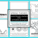 Spring free printable sketchbook by Kitchen Table Classroom