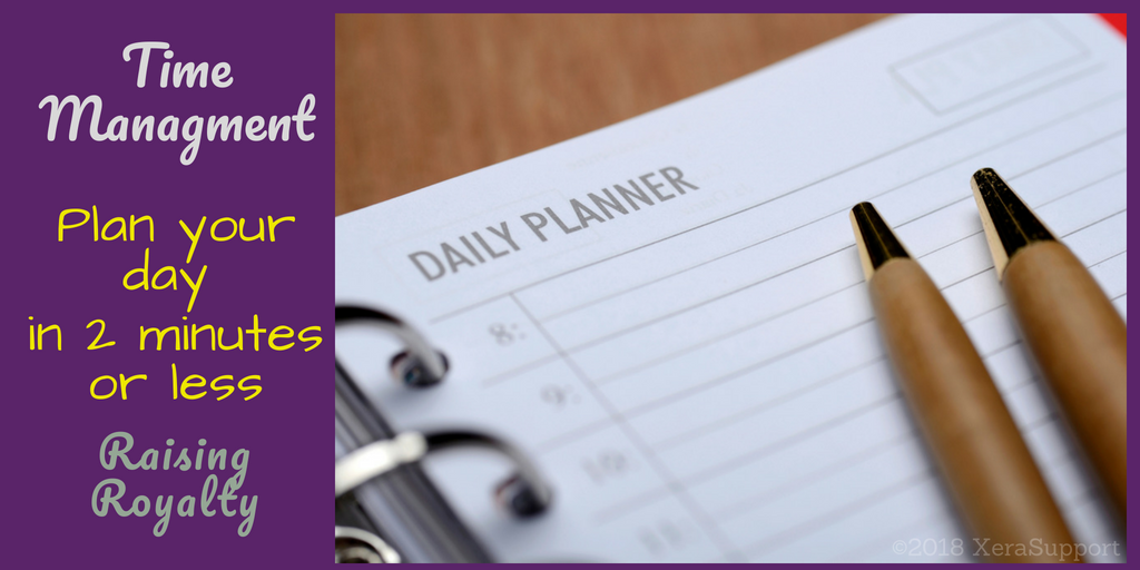 Plan your day fast! Daily planning in 2 minutes or less.