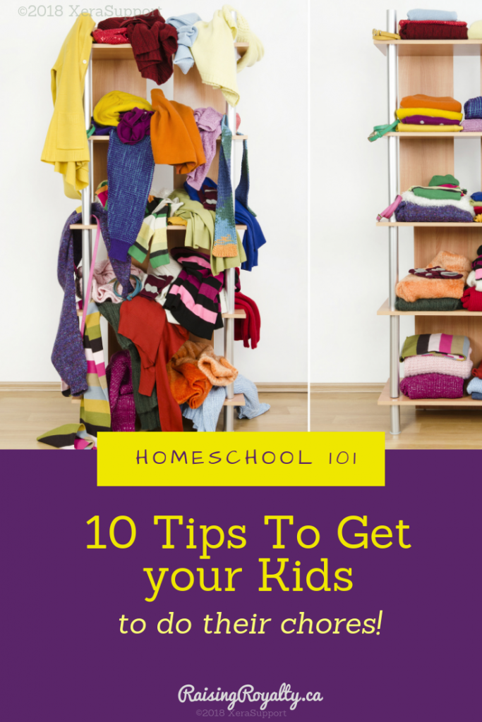 Messy closets are perfect jobs for your kids. Get your kids to do their chores with these 10 tips.