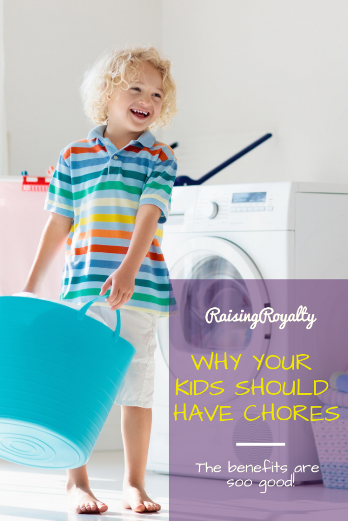 This little boy is doing laundry. When kids do chores, they learn more about being adults!