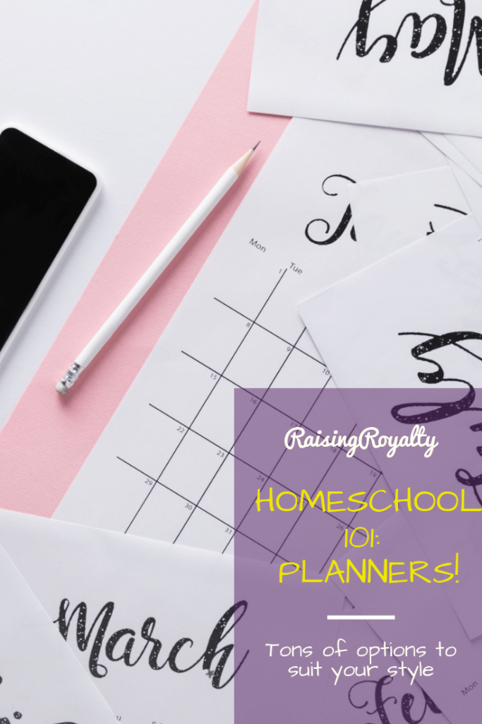 Paper calendars with a digital version. Which homeschool planner suits you?