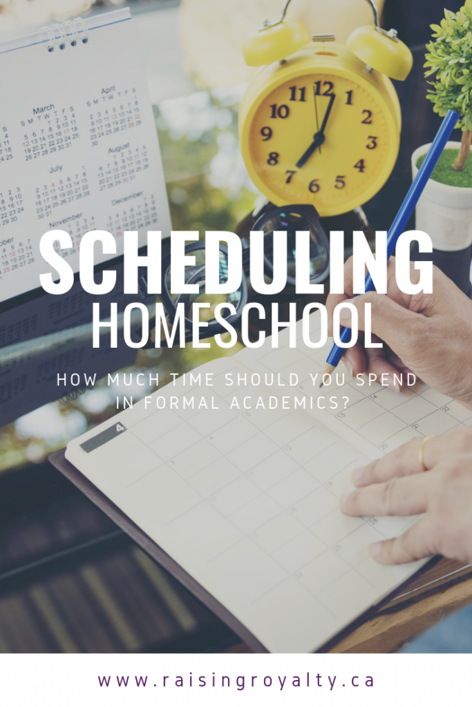 Creating homeschool lesson plans in a blank planner is one option for scheduling homeschool.