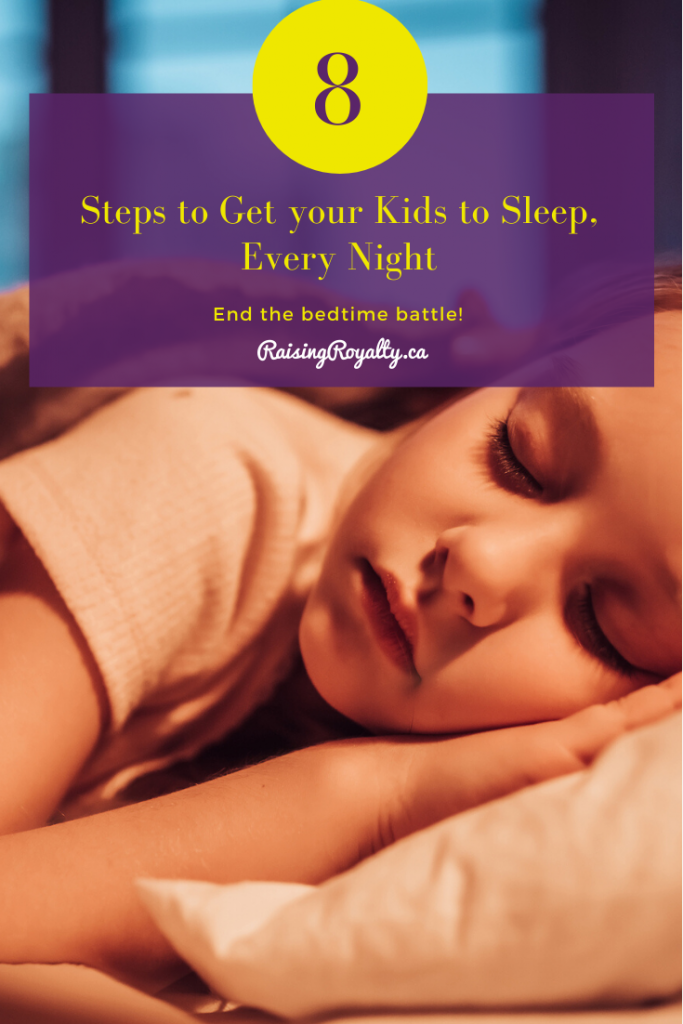 Does your child sleep as peacefully as this little girl, every night? How do you get your kids to go to sleep? End the bedtime battle with these 8 amazing tips that will get them to sleep, on time, every time.