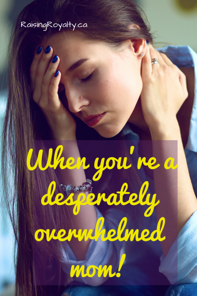 Don't let life stress you out. When you're a desperately overwhelmed mom, and you can't do one more thing -- here's the one thing you should do.
