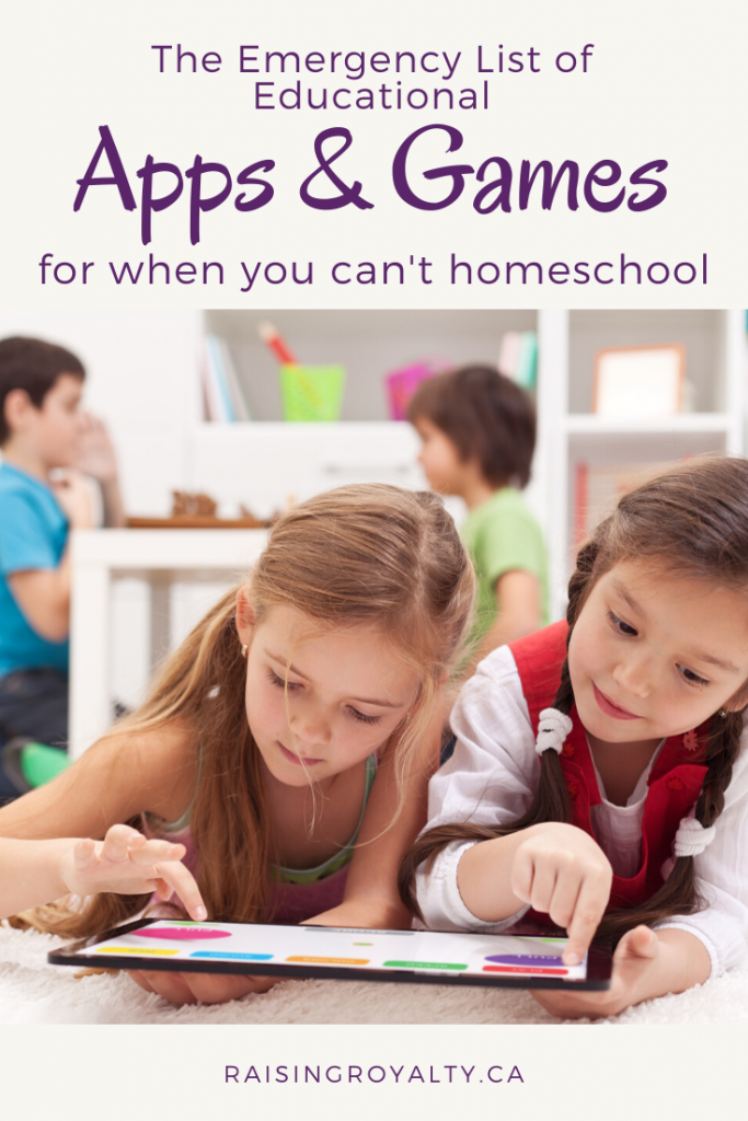 When crisis hits, and you can't homeschool, you can use these educational apps and games to fill in the gaps. From math to history, you're covered.