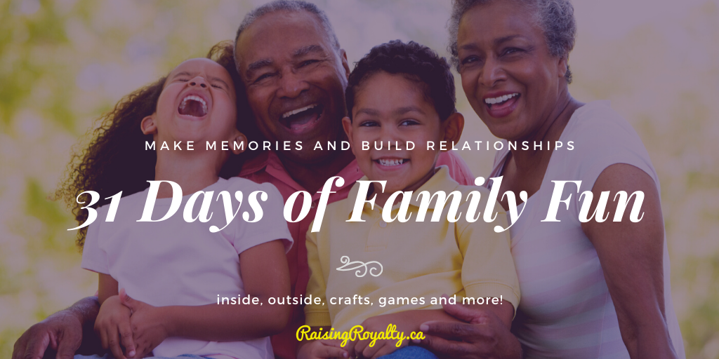 Spend time with your family with these family fun activities! We've got fun inside and outside, with crafts, games and more!