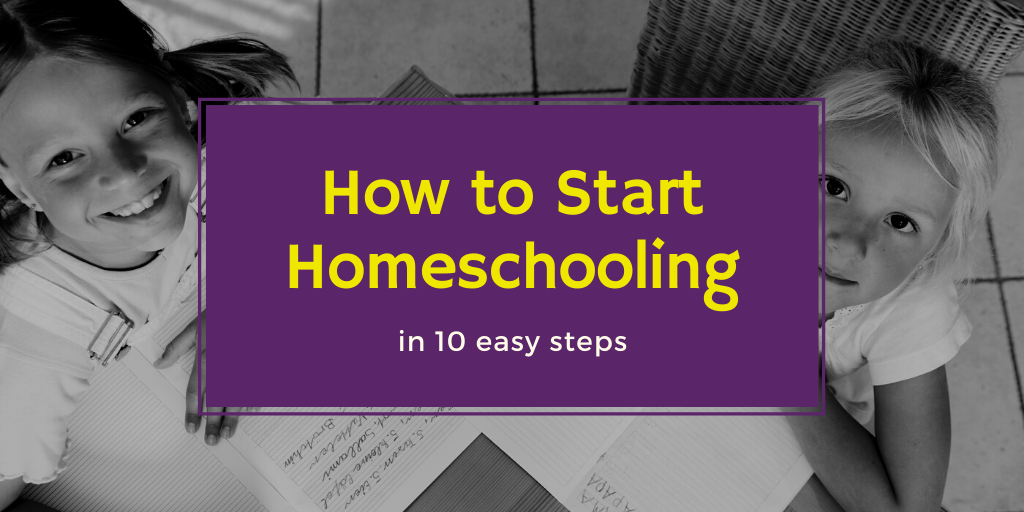 Many parents want to homeschool but don't know how to start homeschooling their children. Here are the 10 easy steps to getting started!
