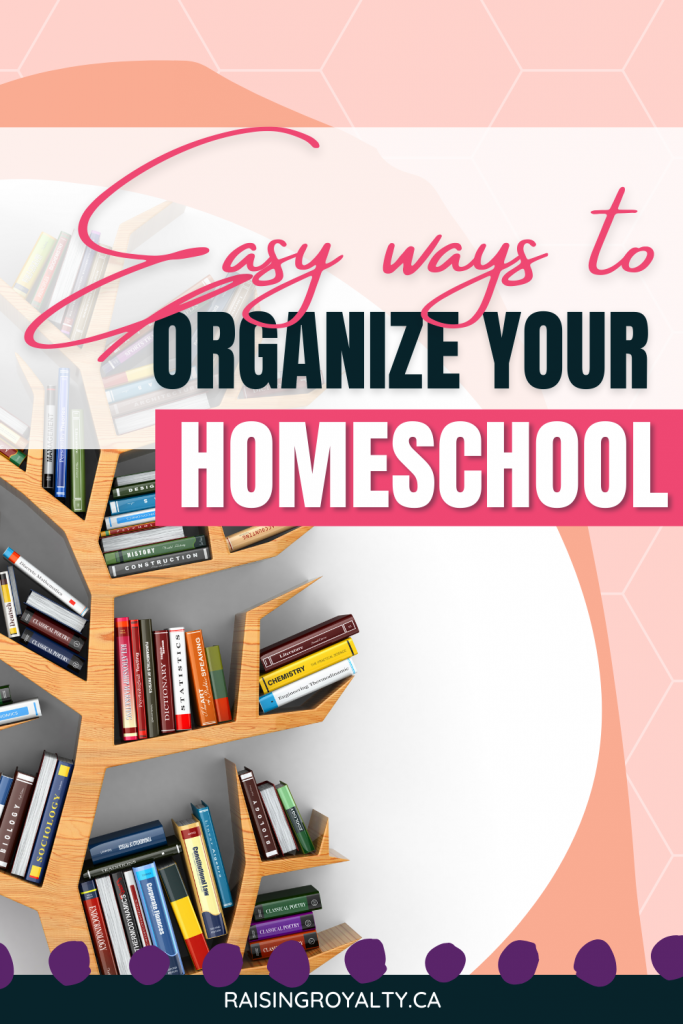 Homeschool is extra -- extra stuff, extra people. Let's organize your homeschool and make it easier to manage when everything has a place.